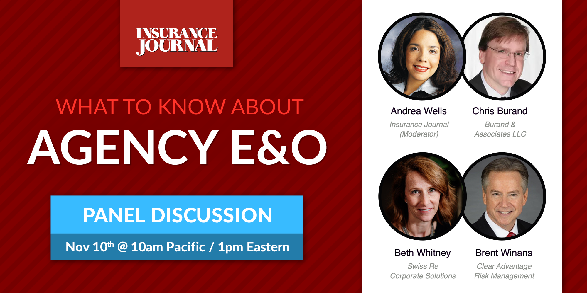 Agency E&O Webinar 11/10 at 1:00 EST